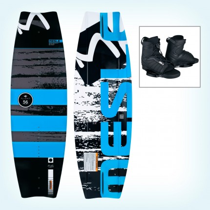 Deska wakeboard Flight 56 + wiązania  Core 2 blue