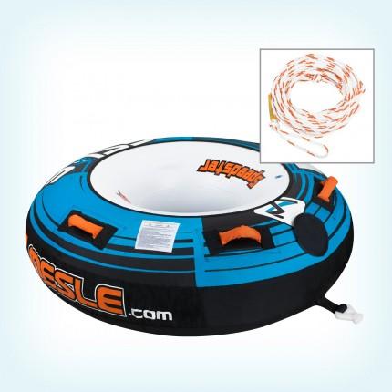 Zestaw 1-Osobowe koło do holowania Speedster Blue + linka