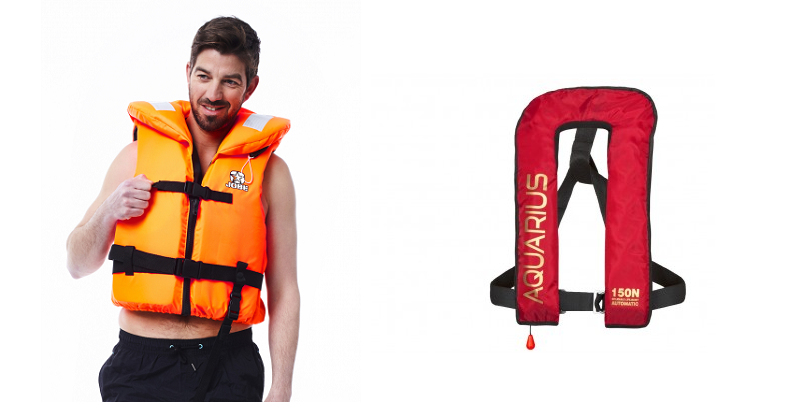 Life jackets for children and adults