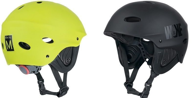 Helmets used for water sports