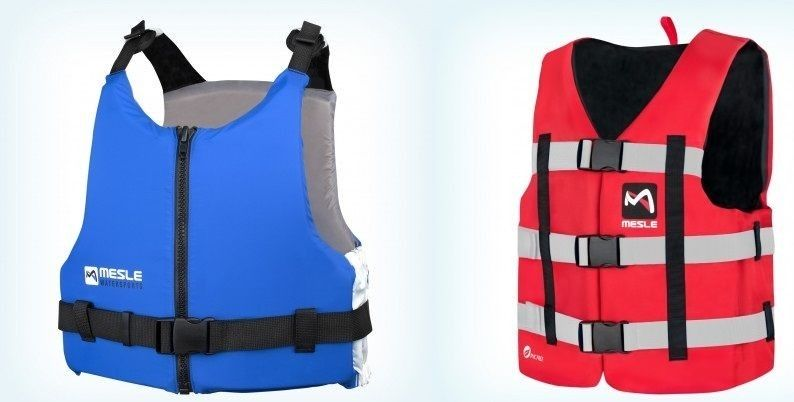 Universal safety vests help to stay on the water after falling